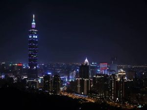 Taiwan buildings go purple in support of World Preemie day 2013